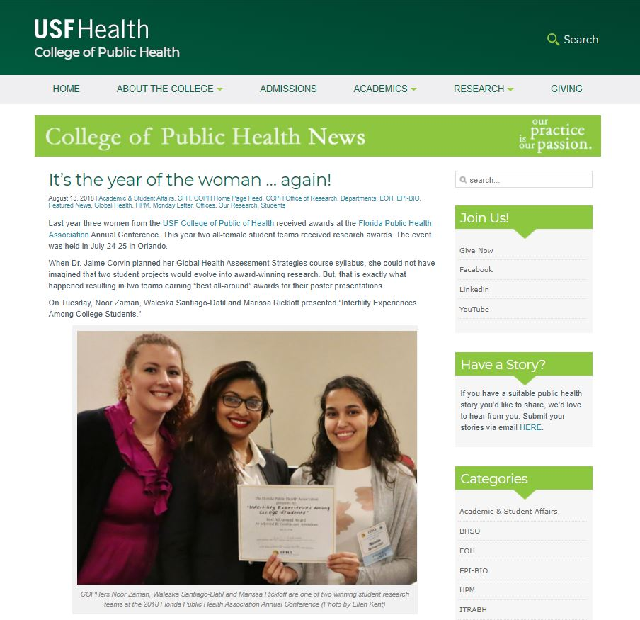 2 masters students winning certificate award